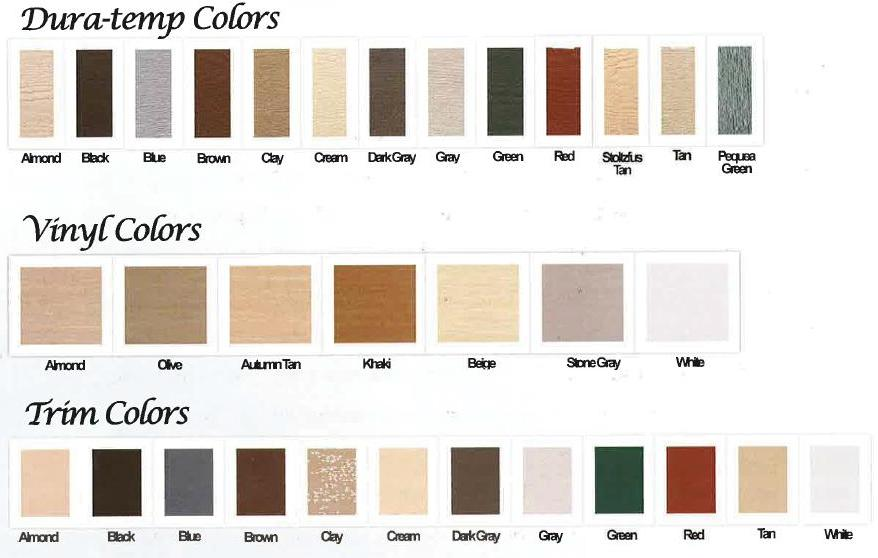 The Barnyard Shed Paint Colors Shingle Colors Options